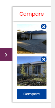 Compare rental listings - popup window