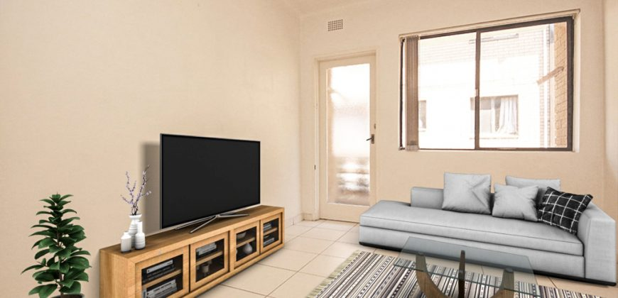 Fairfield 2 bed unit with garage in great location
